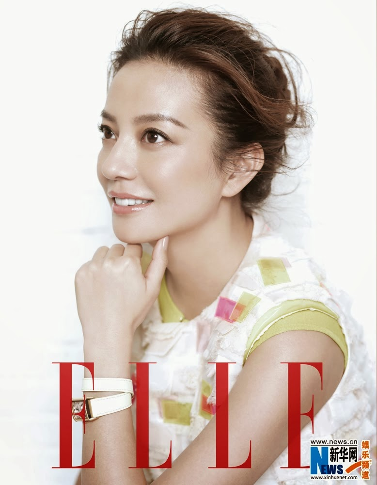 Zhao wei covers elle magazine super star for Elle magazine this month