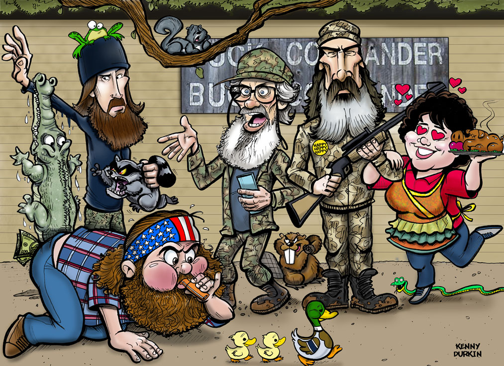 Duck Dynasty Caricature