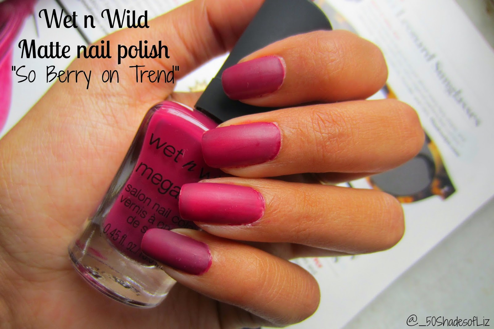 "Wet n Wild Megalast Matte Nail Polish in ""So Berry on Trend"""