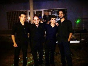 Formación de GoOverJazZ tras su primera actuación en LaroCha Café Bar, San Miguel de Salinas