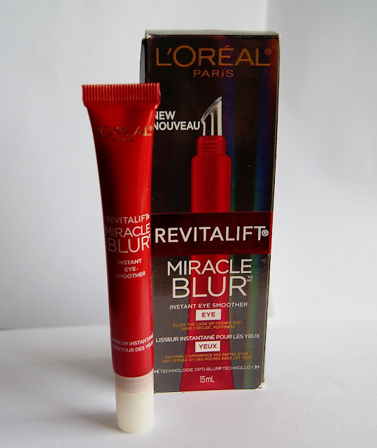 L'Oreal Revitalift Miracle Blur Instant Eye Smoother, review, beauty, skincare, cream, skin, the purple scarf, melanie.ps, toronto, ontario, canada