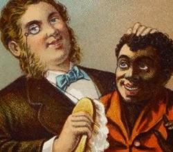 Propaganda de sabão do século XIX com forte cunho racista.
