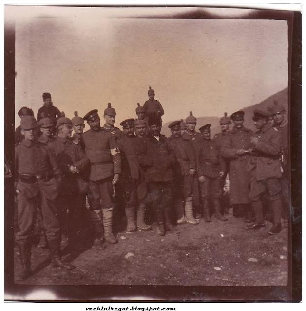 Soldati germani la Orsova, in timpul Primului Razboi Mondial