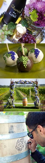 Grape Decorating Ideas for winery weddings!