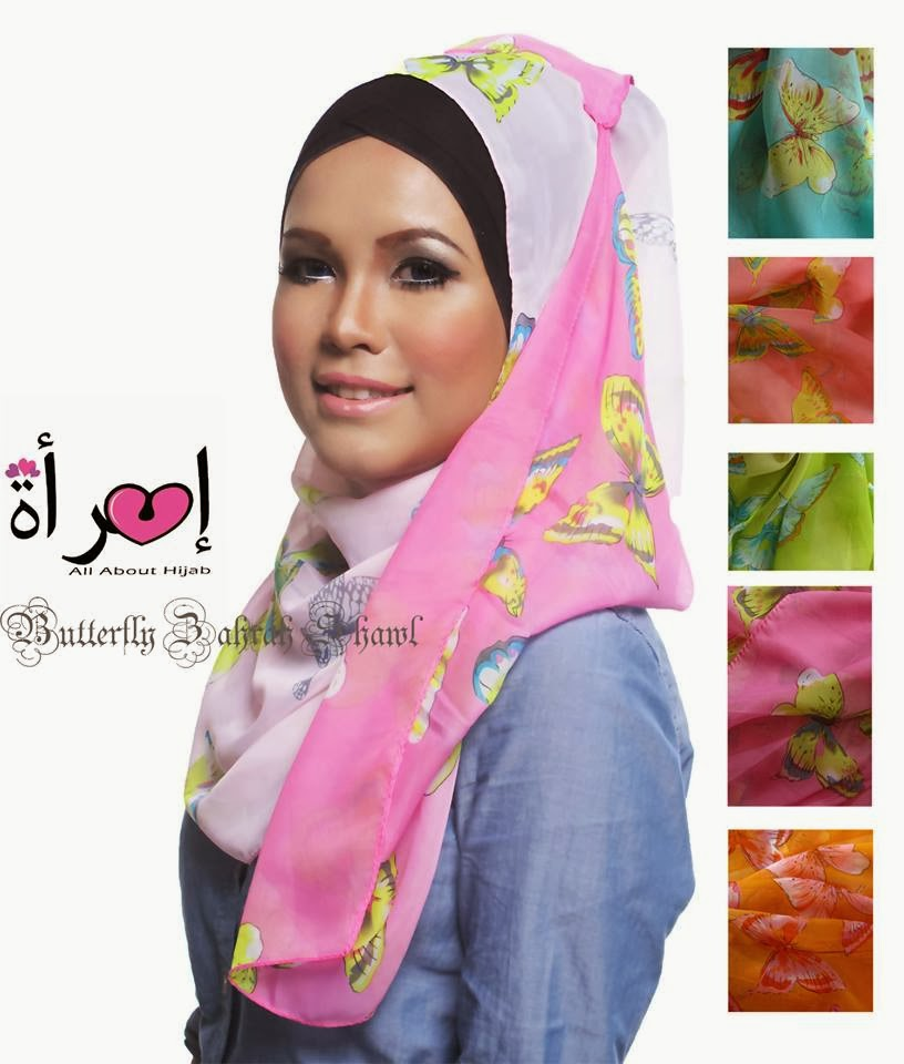 Butterfly Zahrah Shawl