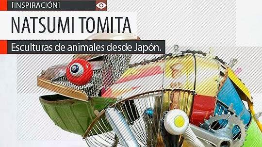 Esculturas desde reciclaje de NATSUMI TOMITA