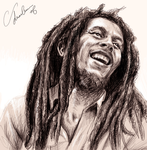 How to Draw Bob Marley  Draw Famous Faces