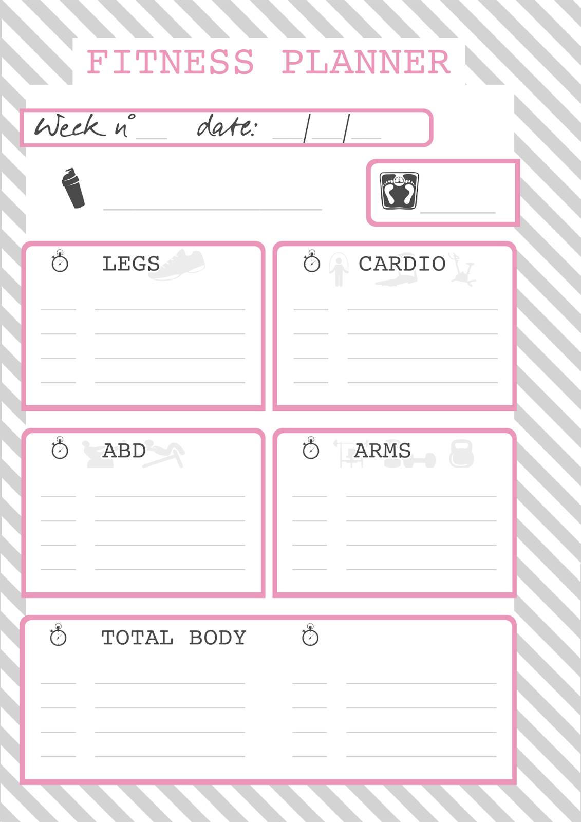 Estremamente JOURNAL & DIARY | Fitness schedule | Sabrina C JT11