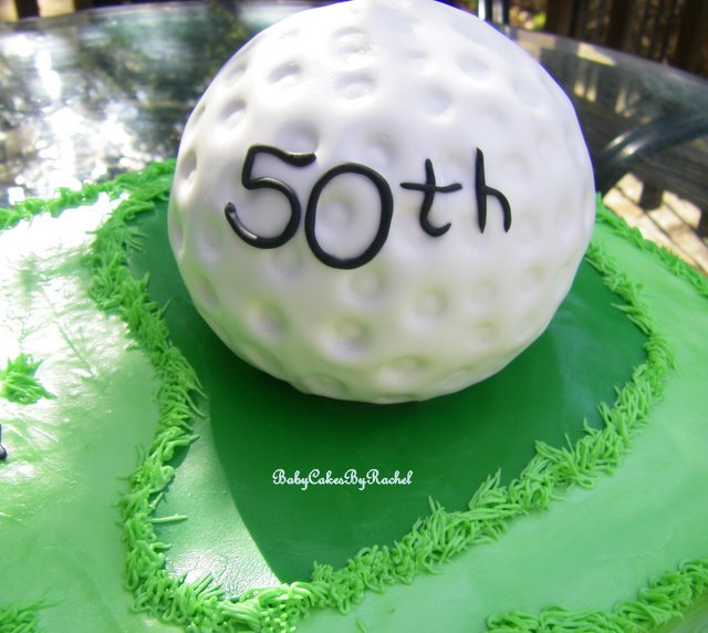 BabyCakes Golf Ball Cake Pineapple Cake with a Pineapple Filling