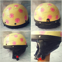 Helm Vespa Retro Classic Leberhem Polkadot Rider