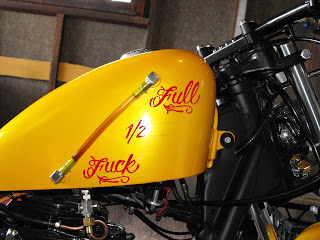Hand Painted Traditional Signwriters Custom Motorcycle Tank by Dobell Signs Sydney New South Wales Australia