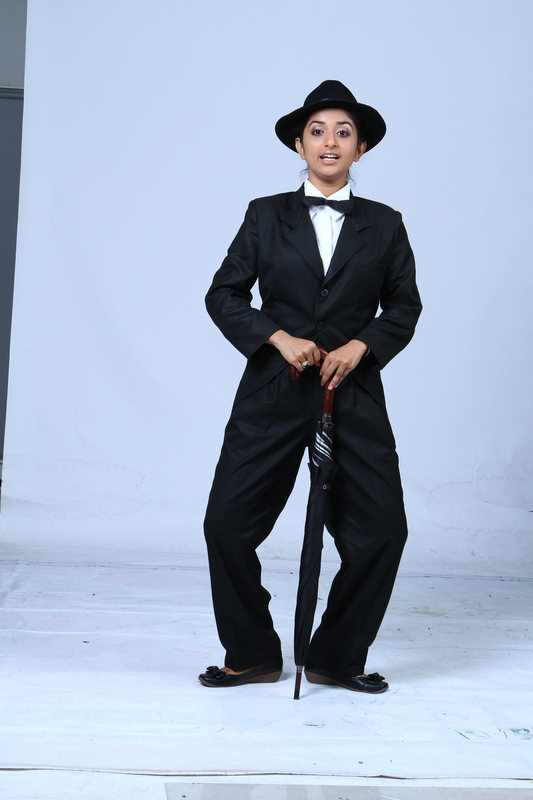 Meera Jasmine latest Photoshoot as Charlie Chaplin for Anbulla Kamal movie