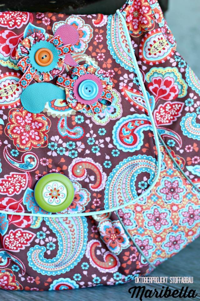 Hängetasche Paisley Frühstück bei Emma - Schnitt Maribella Design Jolijou über Farbenmix