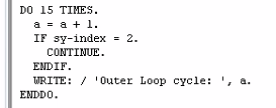 Loop Termination – CONTINUE in SAP ABAP