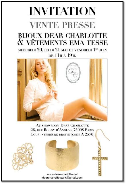 Ventes presse invitation Dear Charlotte Ema Tesse
