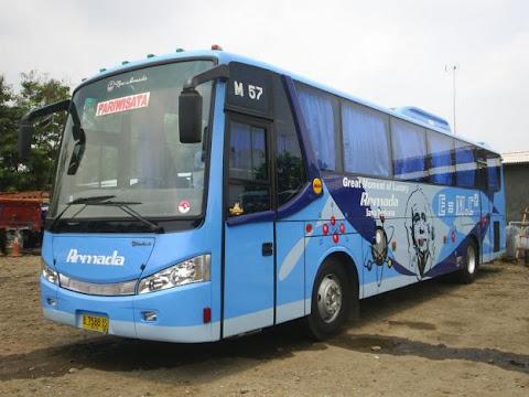 Data bis, Nama perusahaan bis, Trayek / jurusan, Tarif , Jam berangkat, terminal bis di Indonesia
