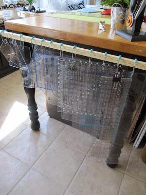 quilt ruler rack