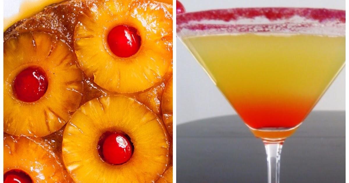 How To Make A Pineapple Upside Down Cake Martini
