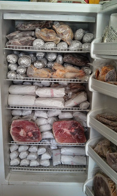 Got enough beef? Hope you have a big freezer like ours - stocked full of grass fed beef.