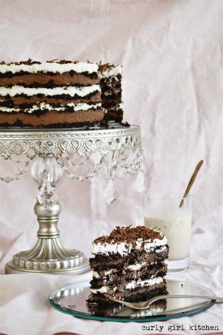 Curly Girl Kitchen: Black and White Russian Icebox Cake