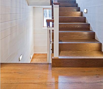Fotos de escaleras revestimientos de escaleras en madera - Escaleras con peldanos de madera ...