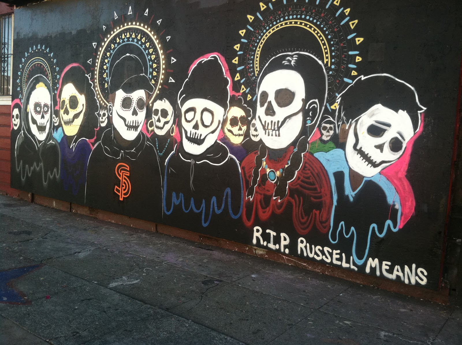 La raza chronicles for Dia de los muertos mural