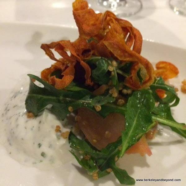 beet salad at Fattoria e Mare in Burlingame, California
