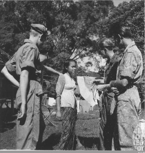 Belanda ngrayu cewek, 1947.