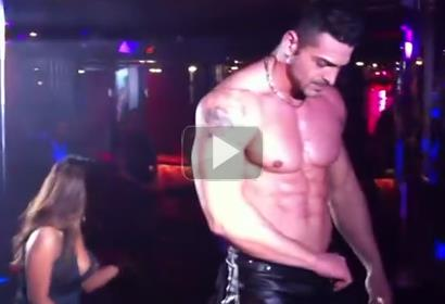 Male stripper Claudio at Beverly Hills Club
