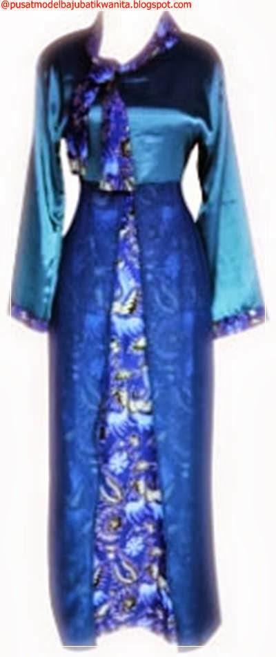 Model baju batik gamis modern wanita terbaru busana Model baju gamis batik muslimah terbaru
