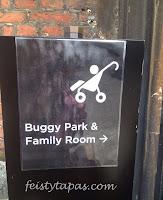 The fabulous Buggy Park and Family Room / El aparcamiento de coches/sillitas infantiles de Hampton Court de Historic Royal Palaces 2013