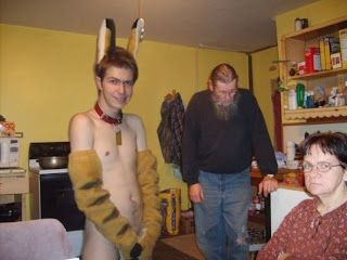 creepy naked furry guy with grandparents
