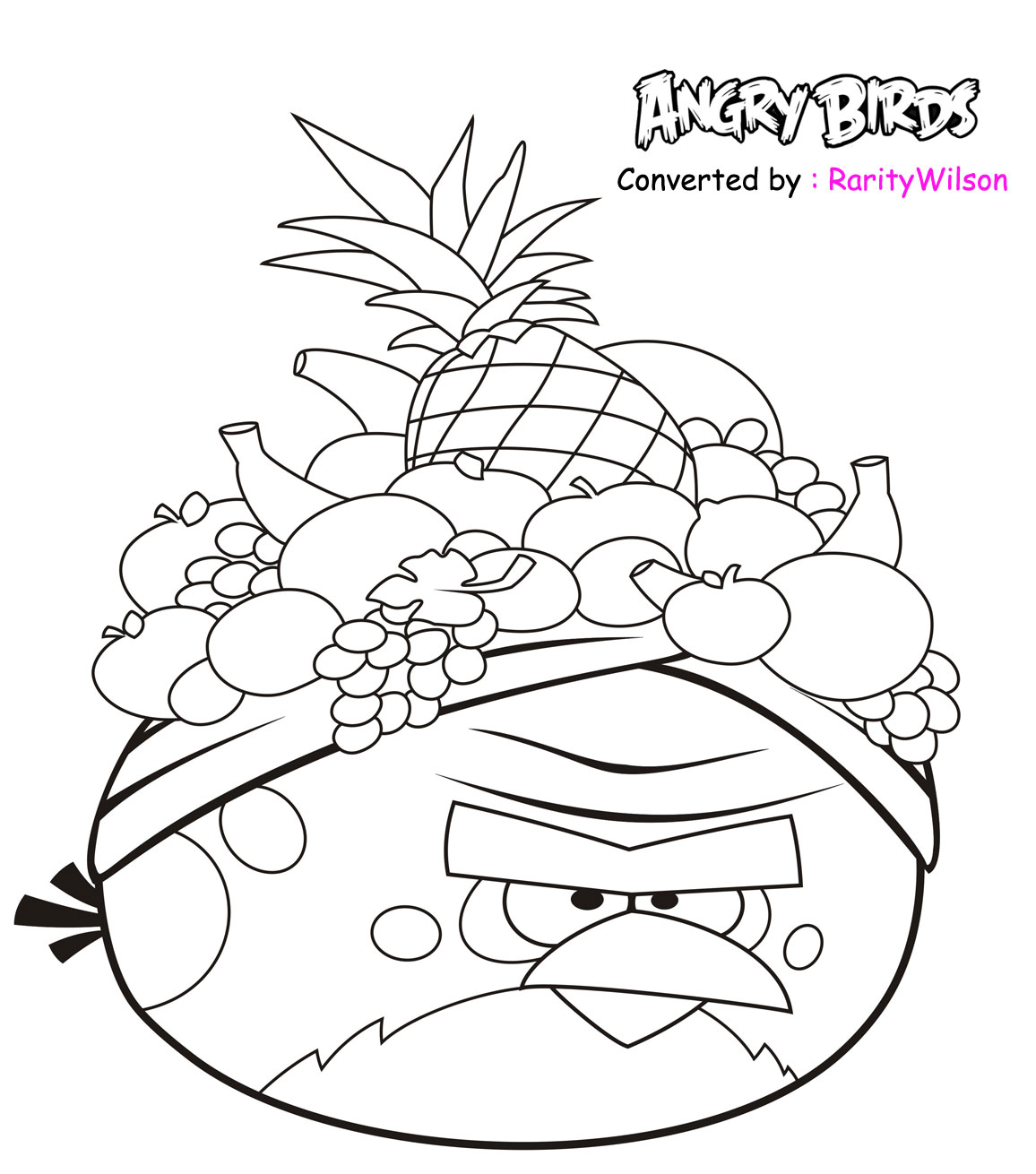 Angry birds rio coloring pages team colors for Coloring pages birds