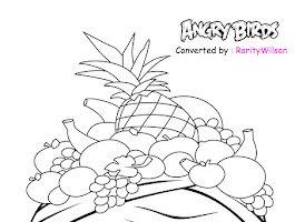 Angry Birds Rio Printable Coloring Pages