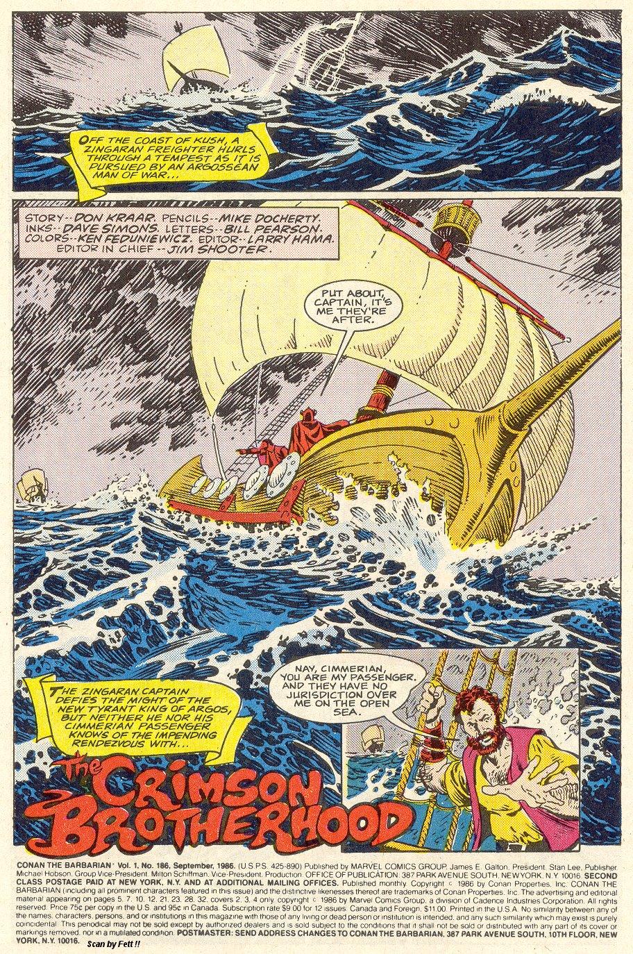 Conan the Barbarian (1970) Issue #186 #198 - English 2