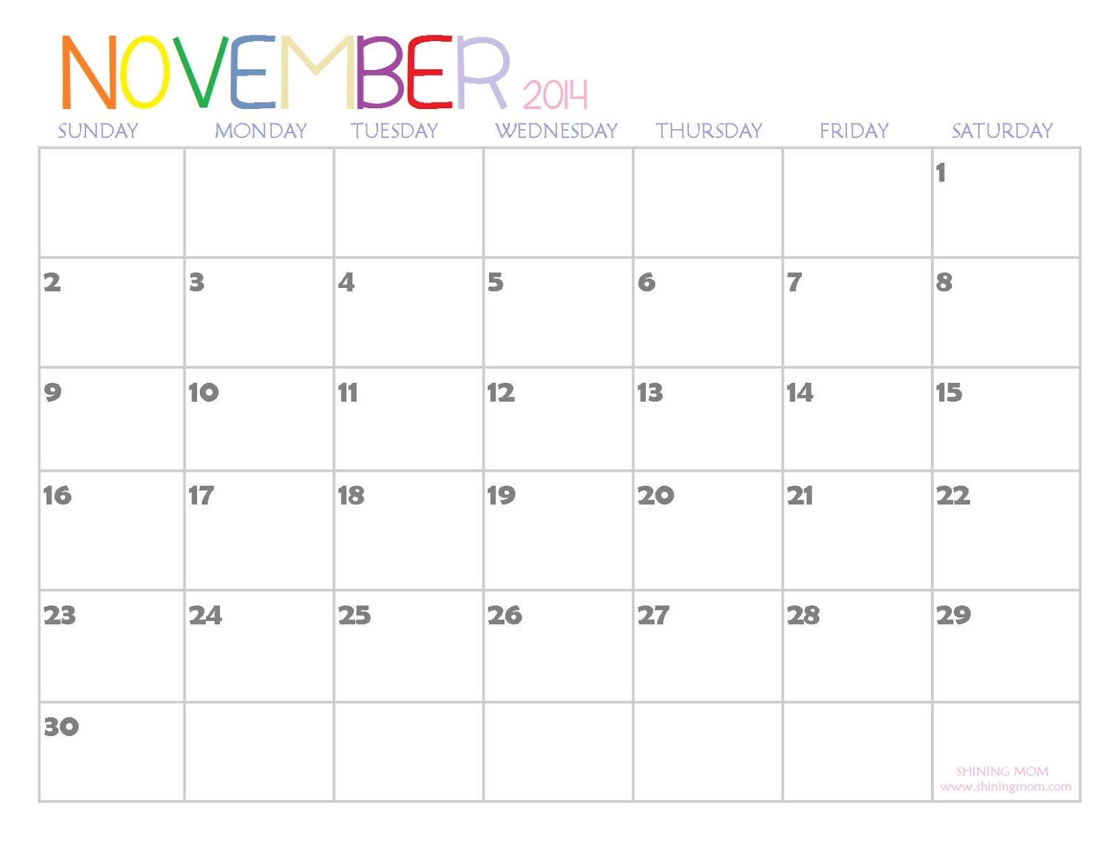 2014 Printable Calendars Fresh Designs