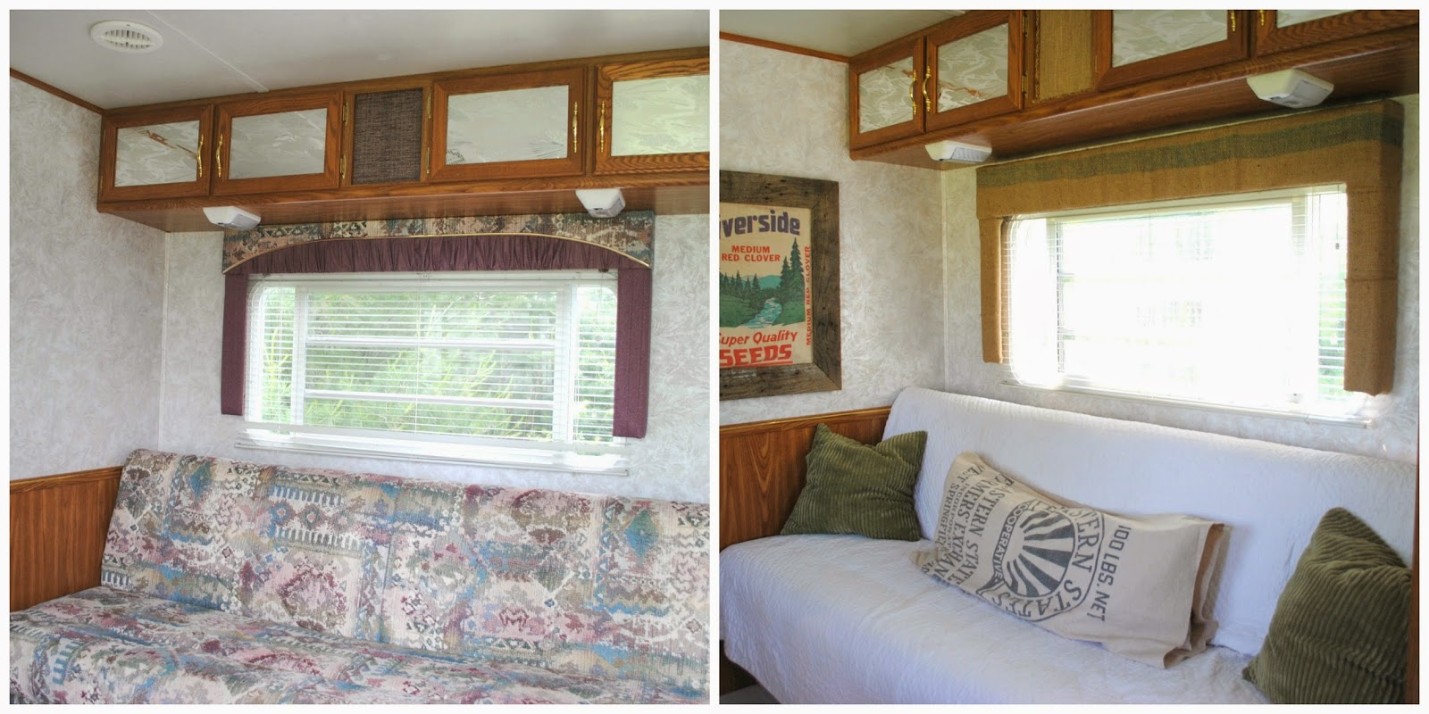 Our Finished Little Camper Remodel It Is Not Very Fancy By Any Stretch Of The Imagination And Truth Be Toldit Could A Bigger With Bunk Beds