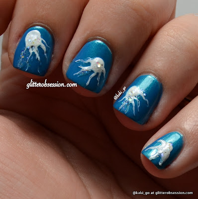Dry Marble/Jellyfish Nail Art