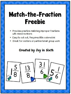 https://www.teacherspayteachers.com/Product/Match-the-Fraction-A-Freebie-1626123