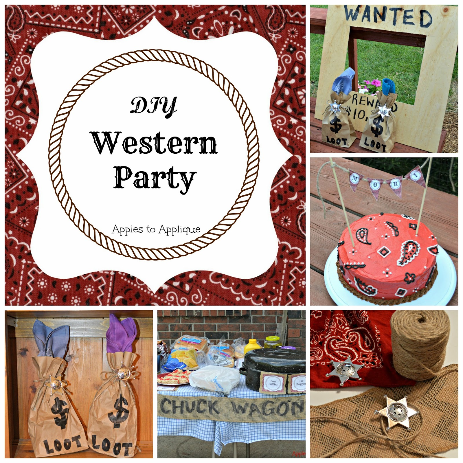 YeeHaw! A DIY Western Birthday Party | Apples to Applique #cowboy #cowgirl #kidsparty