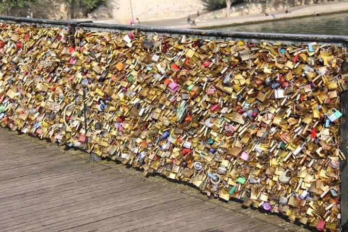 Viajando: Cadeados do Amor nas pontes de Paris