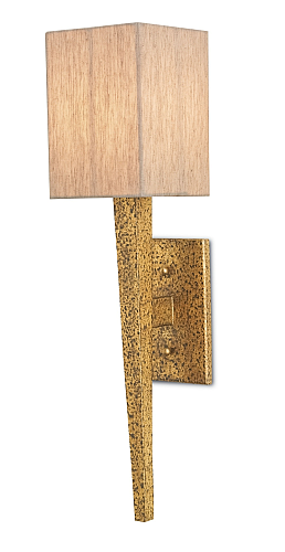 modern wall sconces in aged gold