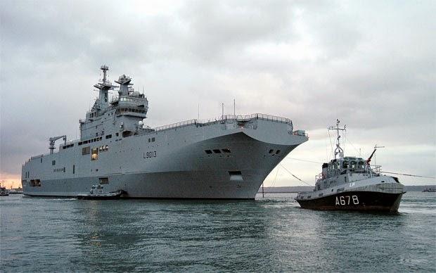 Amerika Girang Perancis Batal Kirim Kapal Perang Pesanan Rusia