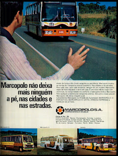 propaganda Marcopolo - 1976. brazilian advertising cars in the 70. os anos 70. história da década de 70; Brazil in the 70s; propaganda carros anos 70; Oswaldo Hernandez;