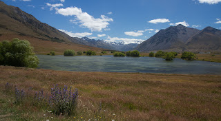 On of the lagoons in the middle upper Ahuriri valley