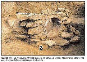 ΡΟΥΤΣΙ: Μυκηναικοί τάφοι - Ανασκαφές και ευρήματα