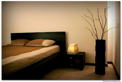 Интерьер спальни из проекта, реализованного дизайнером Настей Раткевич