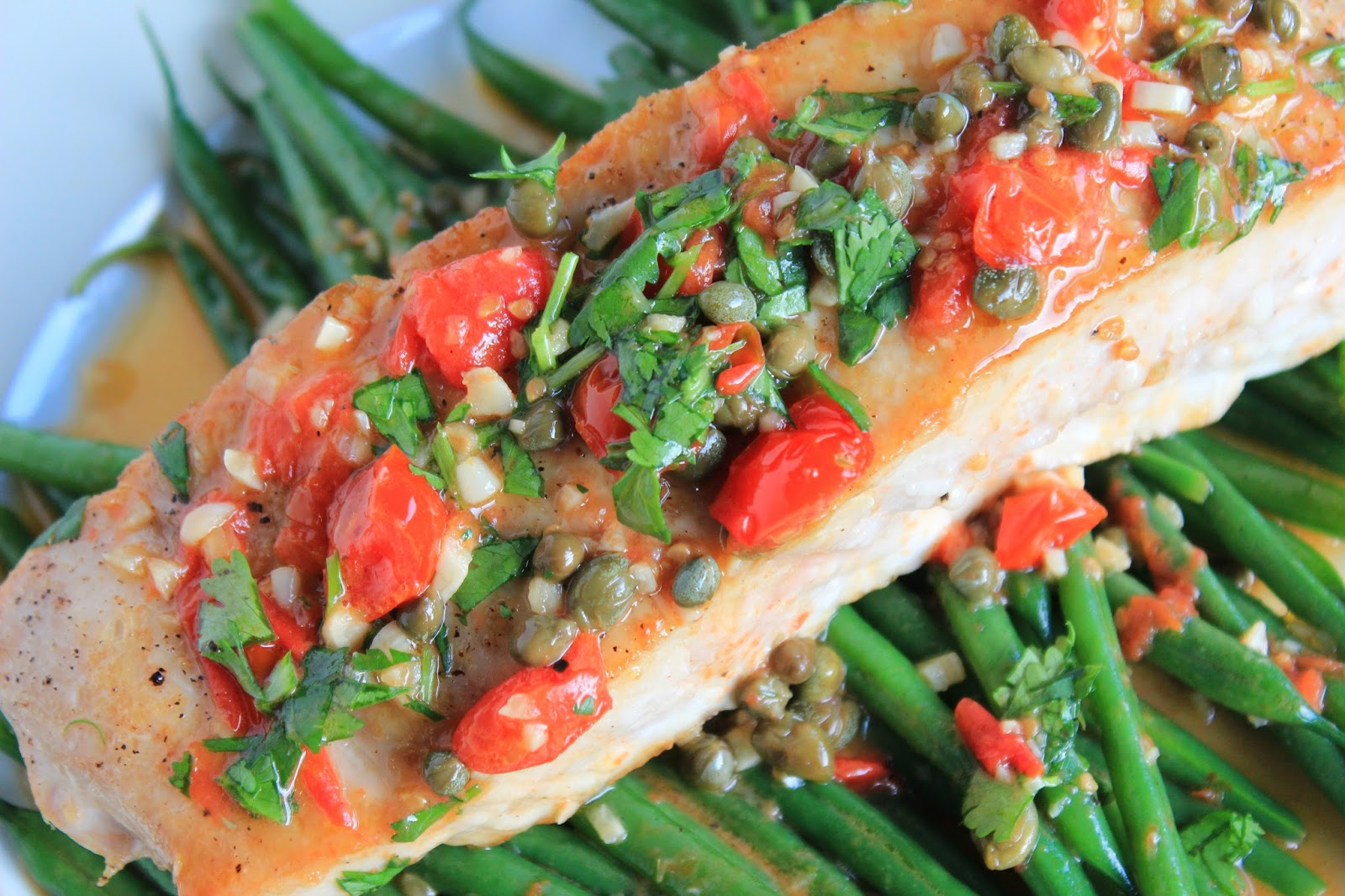 Forty second avenue wild hawaiian opah with capers for Opah fish recipes
