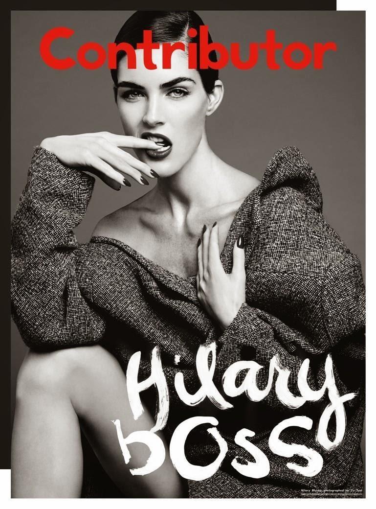 Magazine Photoshoot : Hilary Rhoda, Chloe Moretz & Emmanuelle Seigner Photoshot For Contributor Magazine Decembe