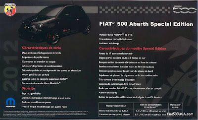 Fiat 500 Abarth Special Edition flyer